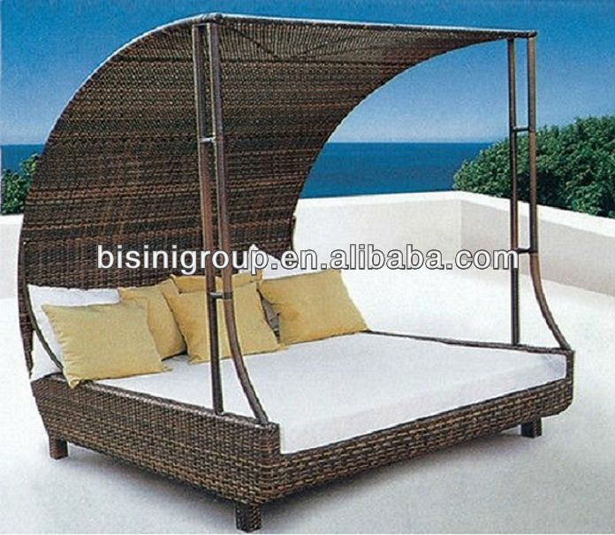 Leisure Lounge Furniture Rattan Beach Canopy Chair Bf10 R11 Used Patio