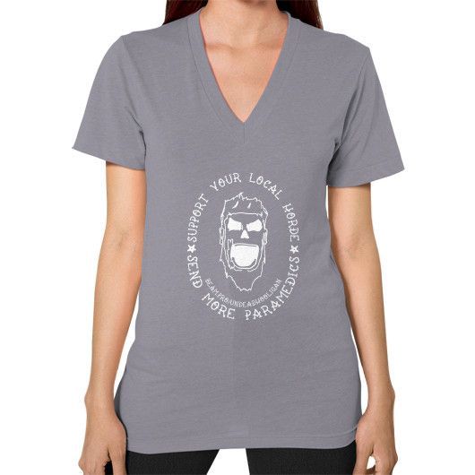 Support Your Local Horde V-Neck (on woman)