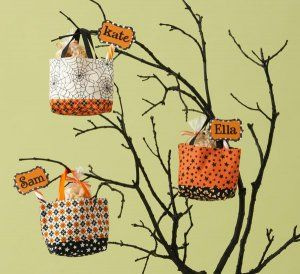 Spookily Simple Sewing Projects. I made these one year to give with halloween candy. They are cute to make.