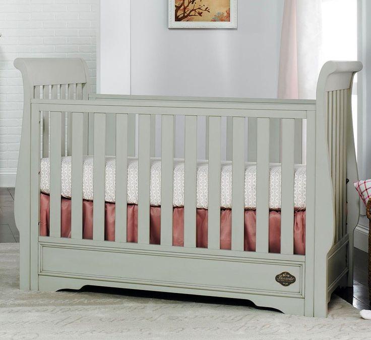Bonavita sawyer classic crib in linen gray baby girl for Bonavita nursery furniture