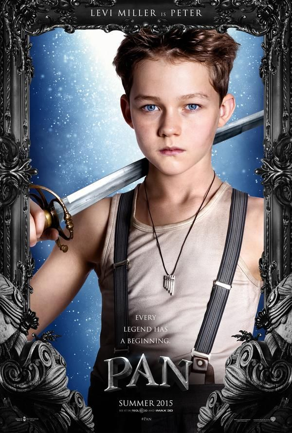 Pan - poster Levi Miller-this is a little strange retelling of how Peter Pan became Peter Pan. A prequel so to speak. The young man that was cast as Peter was excellent! It bogs down in parts but the last third of the movie pulled out and was good. A good movie for kids and its not something I as an adult would watch again but it was an alright film.