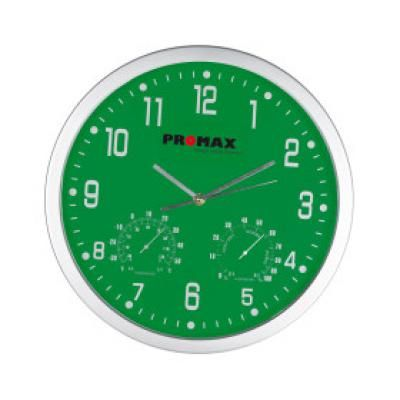 Image of Promotional Crisma Wall Clock.Wall Clock in Green. Printed With You Brand Logo.