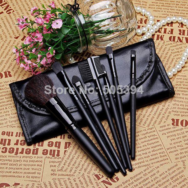pas cher, Achetez directement de China Suppliers: Faible- le coût des ventes maquillage. tools 7 portable deux pcs pinceau de maquillage ensemble, cheveux doux noir marque pinceaux de maquillage professionnelCaractéristiques:Total 7