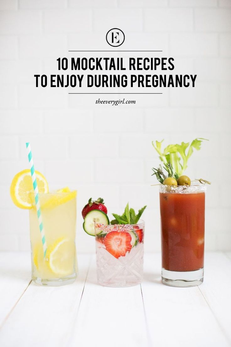 10 Mocktail Recipes to Enjoy During Pregnancy (and whenever you don't feel like alcohol...) #theeverygirl