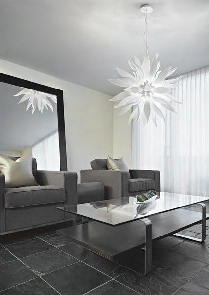 Seria lamp Leaves (Ideal Lux). Idealnie nadaje się do sypialni, salonu lub jadalni.
