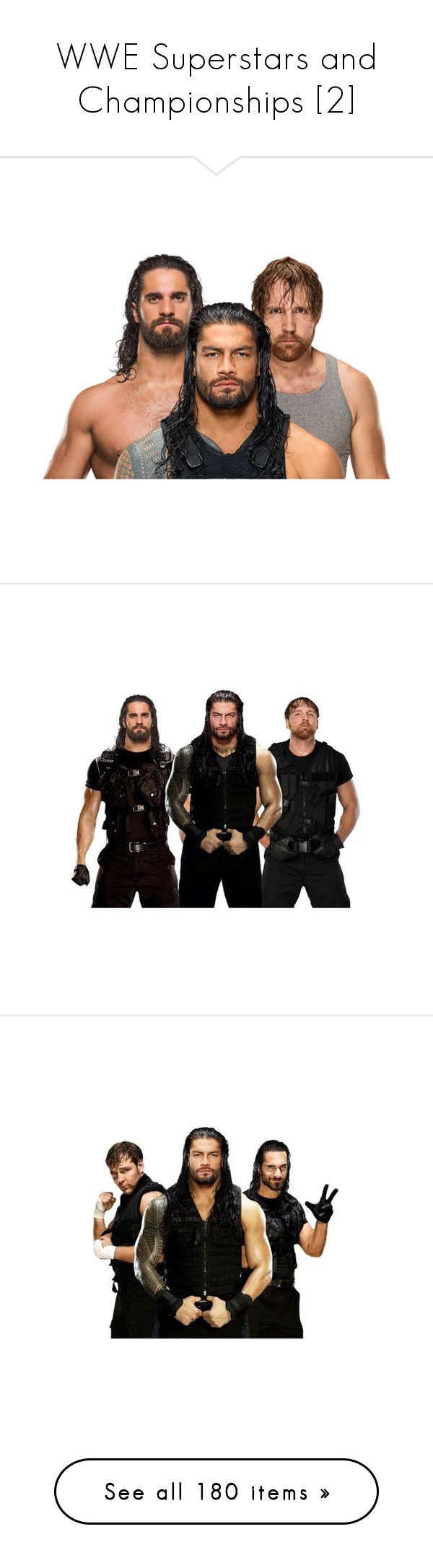 """""""WWE Superstars and Championships [2]"""" by caramara3 ❤ liked on Polyvore featuring home, home decor, superstars, wwe, pictures, backgrounds, misc, wrestling, music and accessories"""