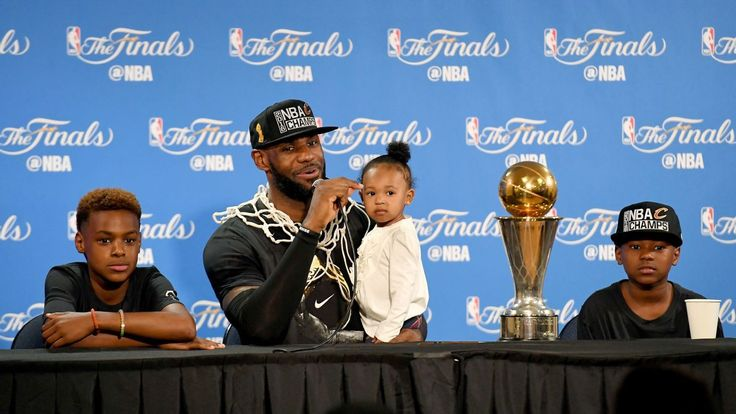 LeBron James celebrates Father's Day with NBA title