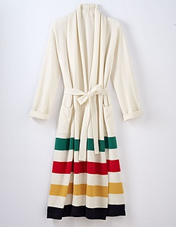 hudson bay cashmere robe - love all things Hudson Bay because it reminds me of cozy nights up in my Country House in Quebec.