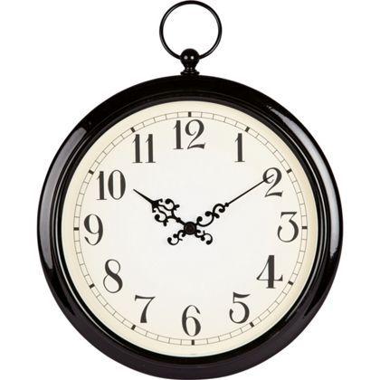Pocket Watch Wall Clock- Black