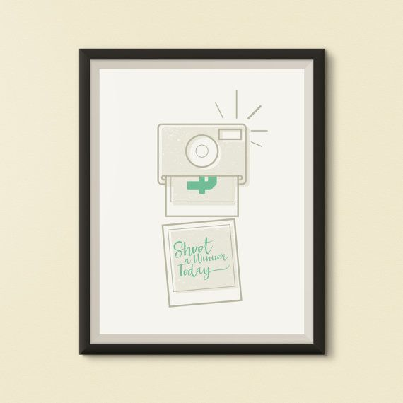 Shoot a Winner Today Print  Photographers Poster  by FatPen