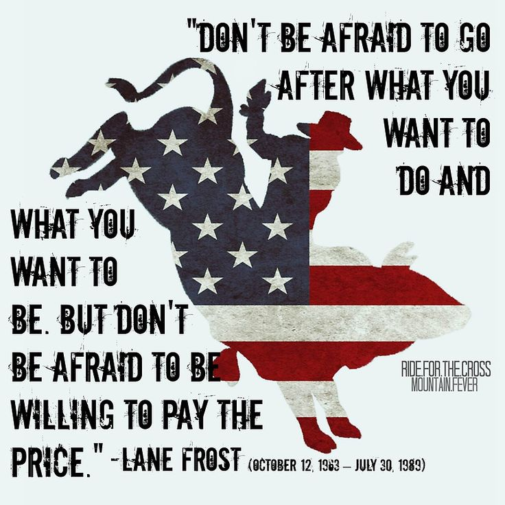 Lane Frost Tribute : American Flag/Quote