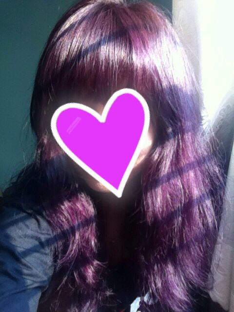 Violet. dyed march 8th, photo taken march 9th, 2013. (reupload)