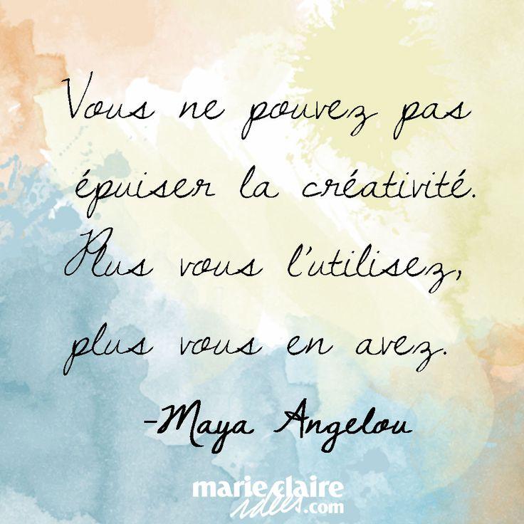 Vous ne pouvez pas épuiser la créativité !  You can not exhaust creativity!