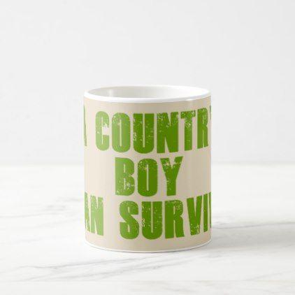 A country boy can survivie coffee mug - boy gifts gift ideas diy unique