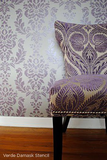 Positively Purple Patterns. I want that AND that wallpaper. Lovely