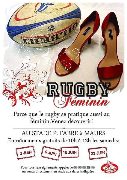 Affiche Rugby Féminin -Maurs