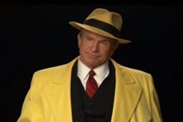 To hold onto the rights to Dick Tracy, Warren Beatty dressed up as the comic-strip detective and appeared in a 30-minute segment with film critic Leonard Maltin.