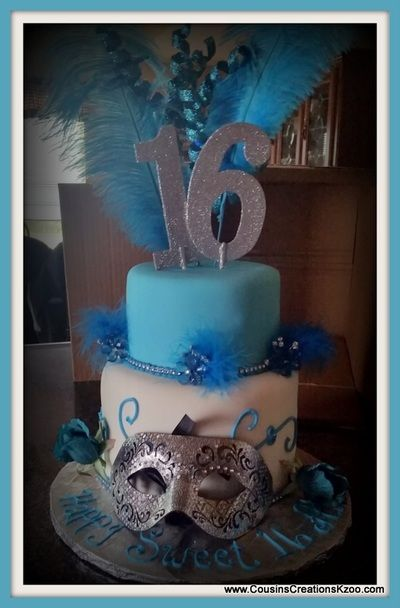 Sweet 16 Masquerade Cake Cousin's Creations Birthday Cakes for Gals - Cousin's Creations