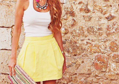 .I need skirts: Summer Dresses, Cant Wait, Summer Outfit, Summer Looks, Summer Style, Yellow Skirts, Summer Skirts, Spring Outfit, Summer Sunshine