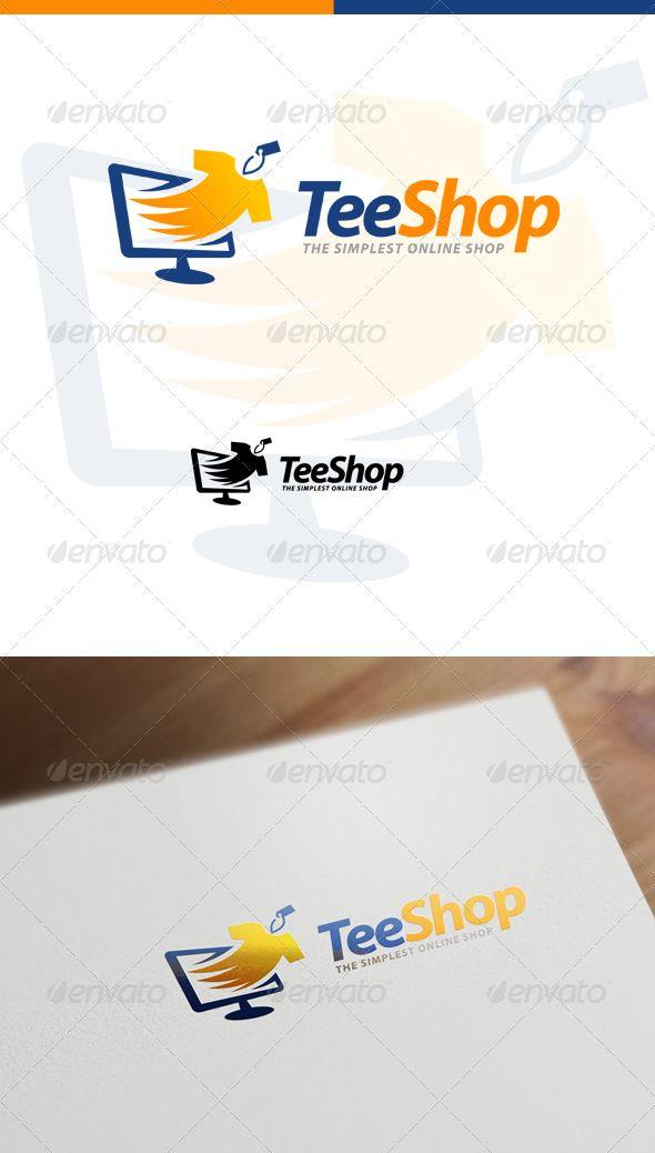 TeeShop Retail Online Shop & Apparel Store  - Logo Design Template Vector #logotype Download it here: http://graphicriver.net/item/teeshop-retail-online-shop-apparel-store-logo/7404686?s_rank=978?ref=nexion