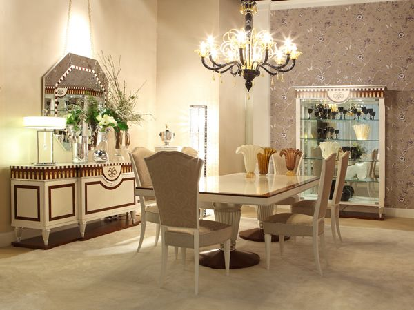 Dining room VOLTERRA.  Luxury furniture #italianstyle #abproduction #abstyle