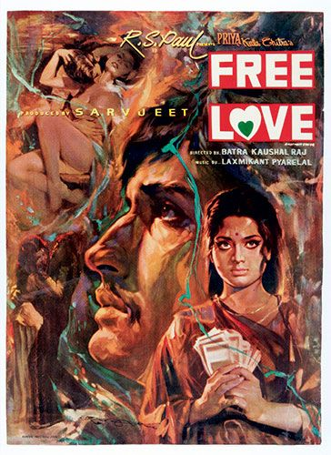Vintage poster for 'Free Love' (1974) from: The art of Bollywood | The Guardian