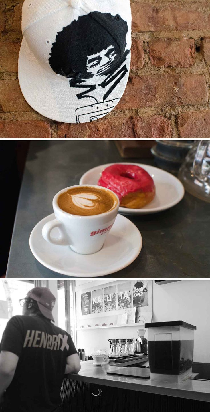 Gimme! Coffee, Nolita. These guys cover all bases when it comes down to coffee. Espresso, pour over, drip etc. A well made macchiato and some fine doughnuts to have as well. Definitely worth the stop if you're in the neighbourhood.