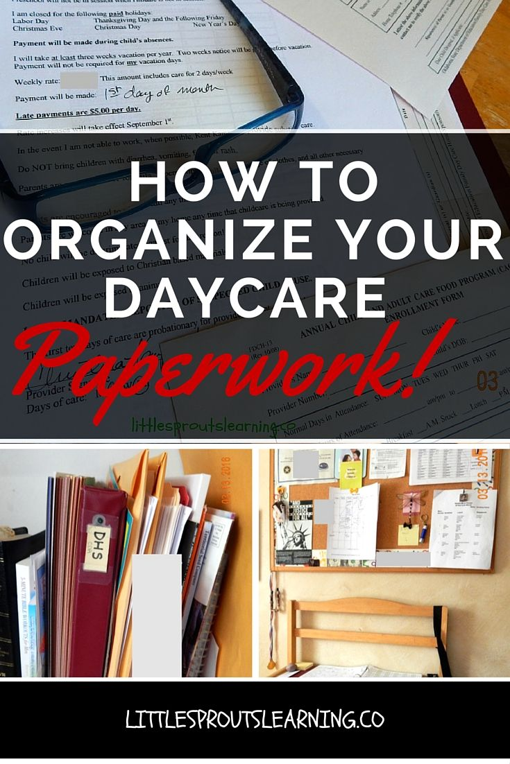 Staying on top of all the paperwork you need for childcare is more than a notion. There are mounds and mounds of papers that need to be stored. You can organize your daycare paperwork in no time and save yourself a ton of headache.