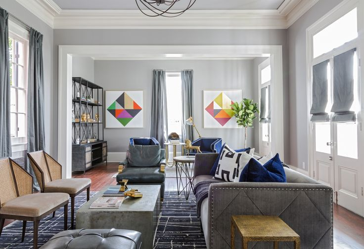 23 Chic, Modern Family Rooms - Love this couch