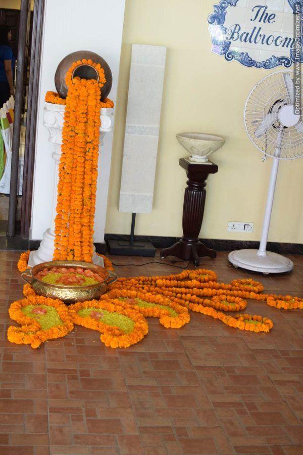 traditional rangoli for wedding