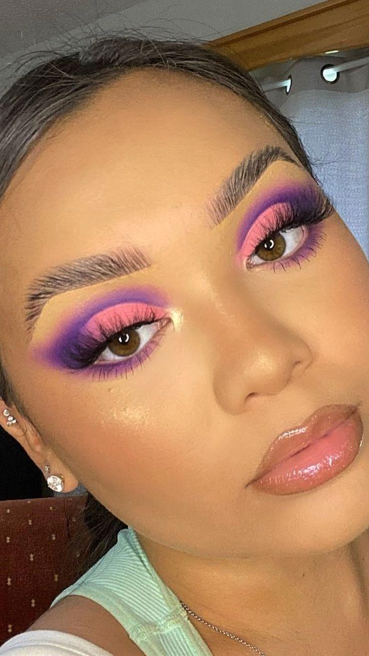 Edgy Makeup, Baddie Makeup, Makeup Eye Looks, Eye Makeup Art, Beautiful Eye Makeup, Colorful Eye Makeup, Crazy Makeup, Hair Makeup, Mermaid Eye Makeup