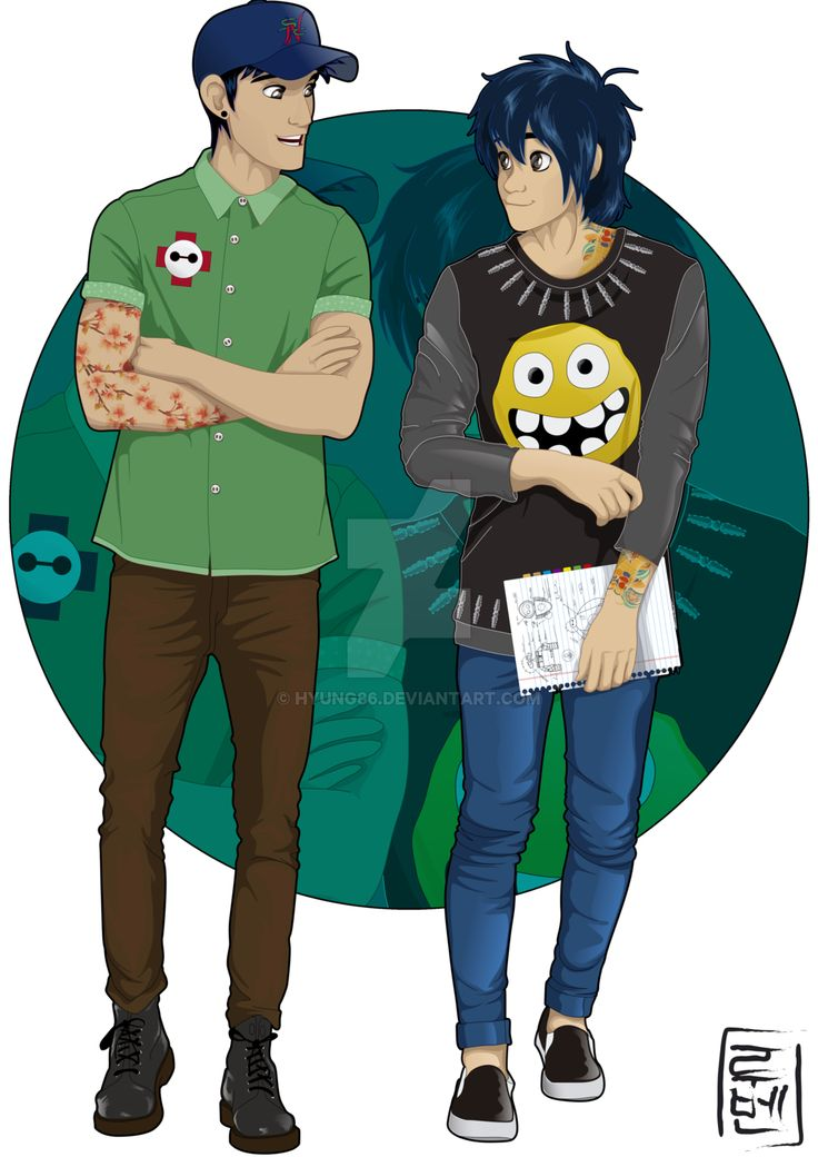 Disney University - Hiro and Tadashi by Hyung86 on @DeviantArt