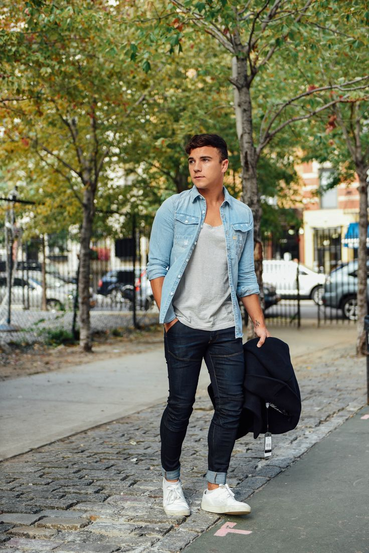"""""""This look is ideal for a weekend chill session with friends in a local park."""" Justin Livingstone of Scout Sixteen #tightorwide #NYC"""