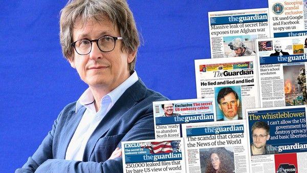 Guardianin entinen päätoimittaja päätoimittaja Alan Rusbridger, joidenkin merkittäviä etusivut valtakuntansa