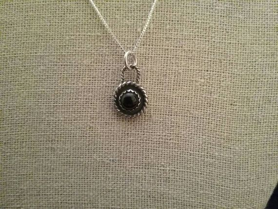 Check out this item in my Etsy shop https://www.etsy.com/listing/276832272/dainty-black-onyx-necklace