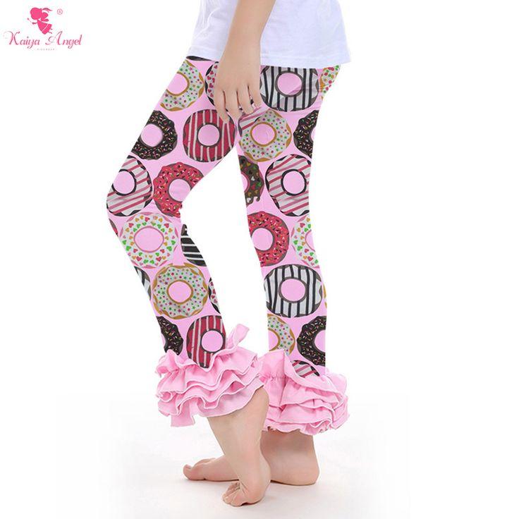 Wonderful Pants Baby Girls Ruffle Leggings Tripe Pink Ruffles Pants Boutique