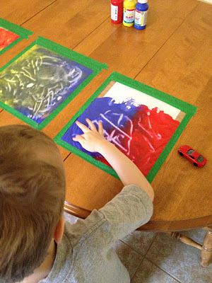 """""""Reusable"""" finger painting."""