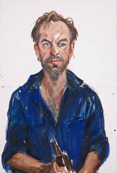 © Nicholas Harding ~ Hugo Weaving ~ 2013 watercolour and gouache on paper at…