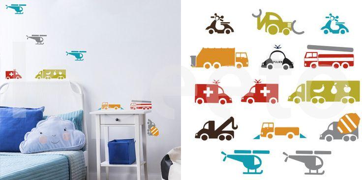 Sada aut RUCH ULICE - samolepky na zeď - kolekce 2012