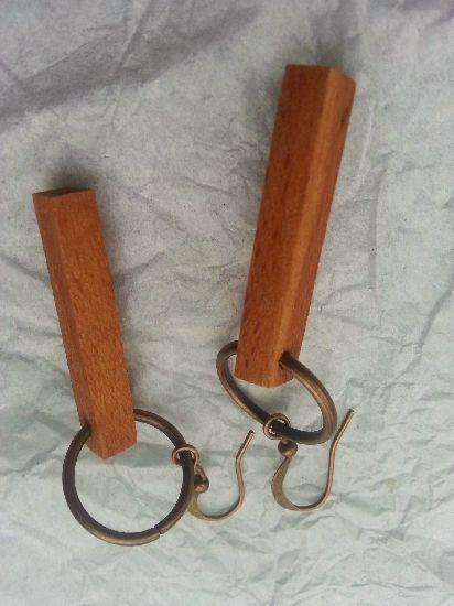 Cercei din lemn de fag, by RaulPetrut, 10 Lei