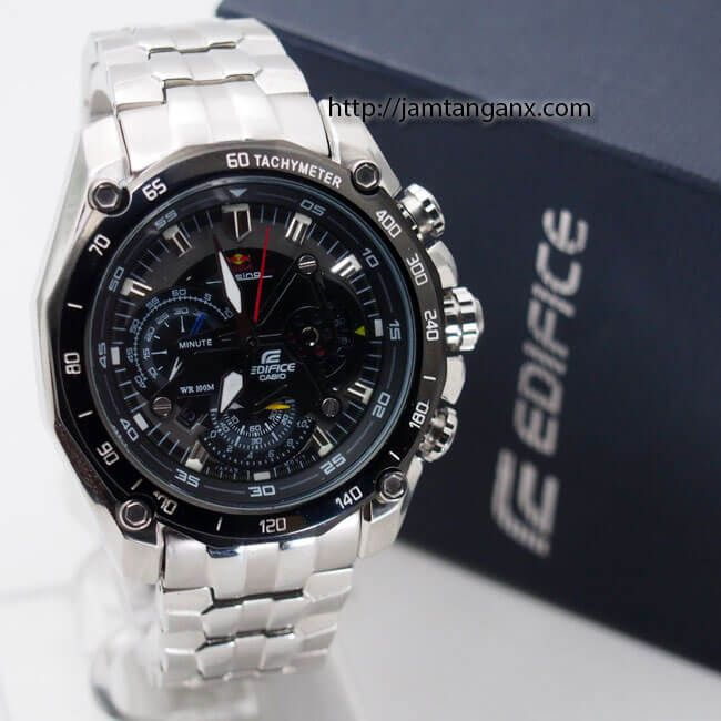 jam tangan casio edifice EF-550 silver black