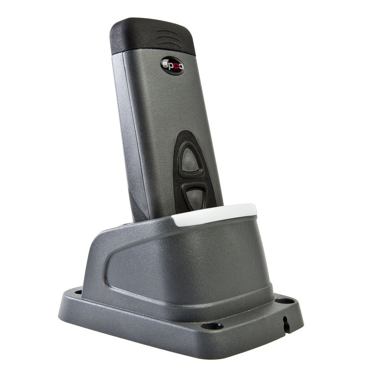 Code CR2321-PKCYA Palm Style QR-Code/1D/2D Wireless Bluetooth Barcode Reader and Charging Station includes Battery, Dark Gray. High-speed omnidirectional reading of 1D, 2D and postal barcodes. Wireless and Bluetooth barcode reader. Durable, compact and ergonomic. Reads barcodes off mobile device screens. Comes with CR2300 barcode reader, battery cartridge, charging station and US power supply.