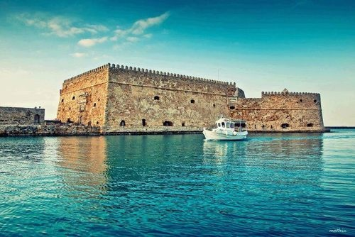 "Venetian Fortress ""Koules"" at the harbour of Iraklion, Crete - Iraklio is the only place in Greece that i have been that i did not like."