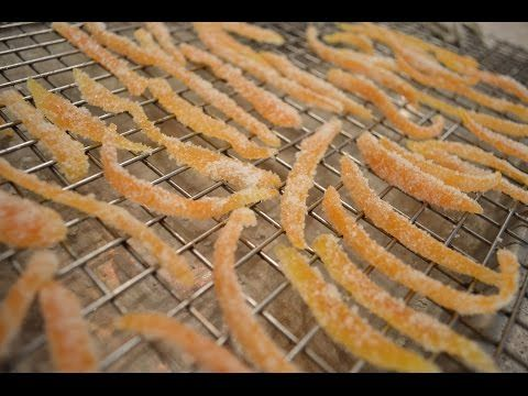 How to Make Candied Orange Peel Slivers: Cooking with Kimberly - YouTube
