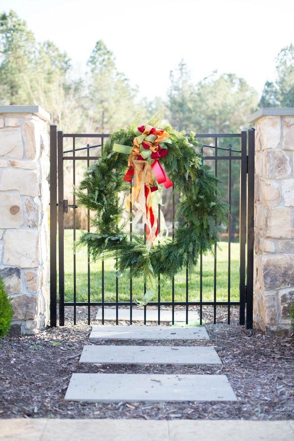 Garden Gate Christmas Wreath