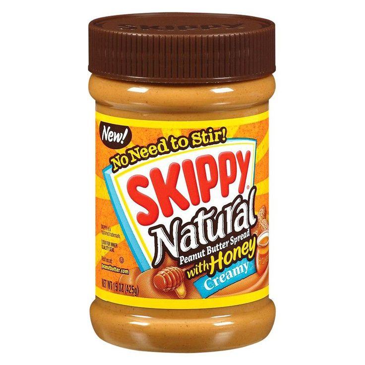 Skippy Natural Creamy Peanut Butter w/ Honey - 15oz