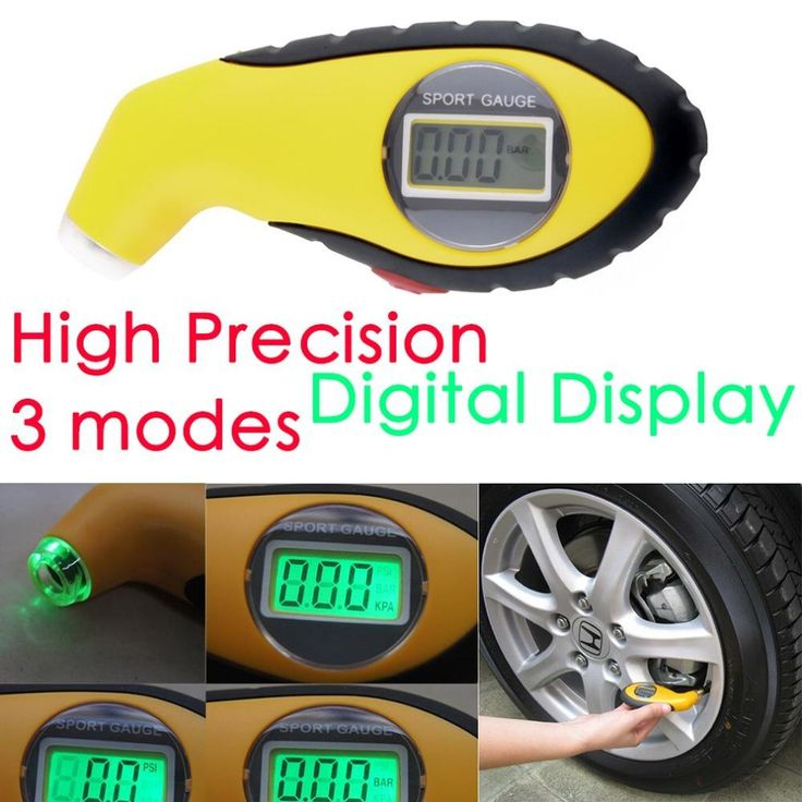 New 5.0-100PSI LCD Digital Tire Tyre Air Pressure Gauge Tester Tool For Auto Car Motorcycle PSI, KPA, BAR hot selling