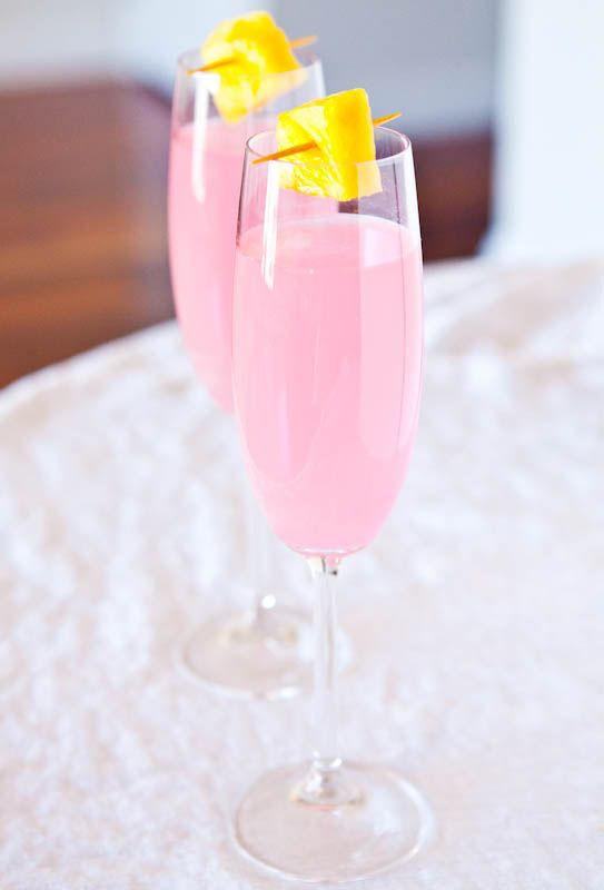 Coconut Water Champagne Fruit Punch - Coconut water is a natural hangover preventer (so drink up!)