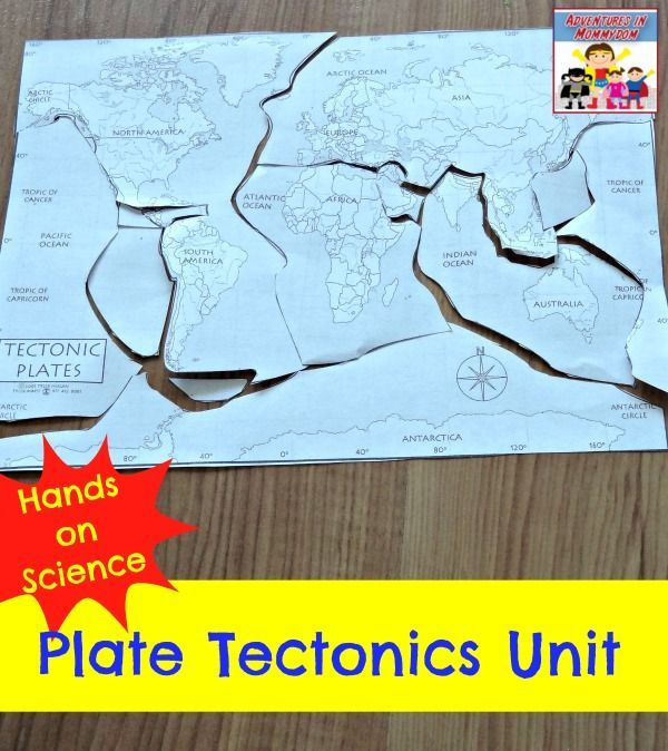 Hands on science plate tectonics unit for elementary kids.