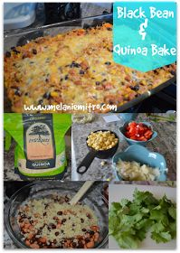Clean Eating, Black Bean and Quinoa Enchilada Bake- 21 day fix 1 yellow 1 red 1 green